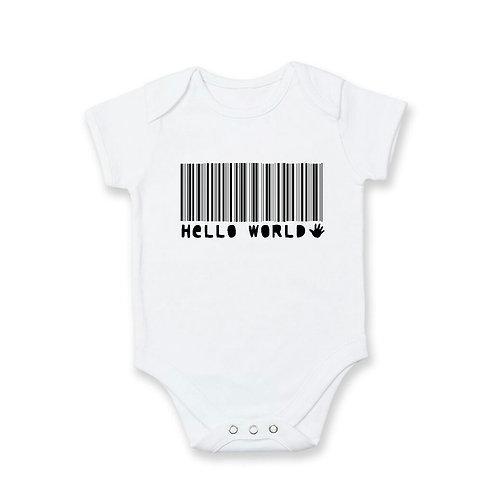 Pregnancy Announcement: Hello World in Barcode