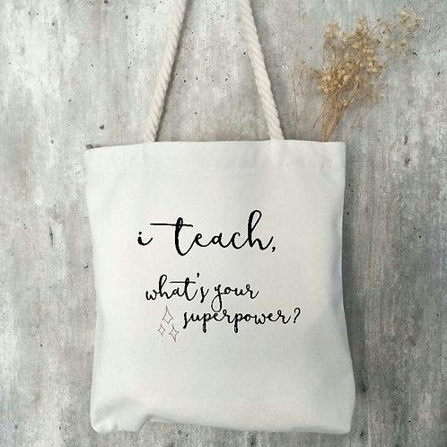 Teacher's Day Zipper Tote
