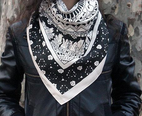 Cosmic Floral Silk Scarf
