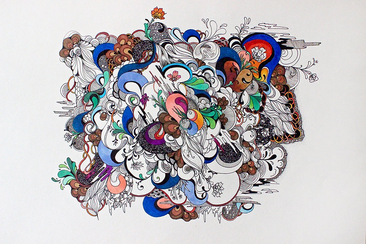 Drawing, Fine Art, Pen, Ink, Marker, abstract