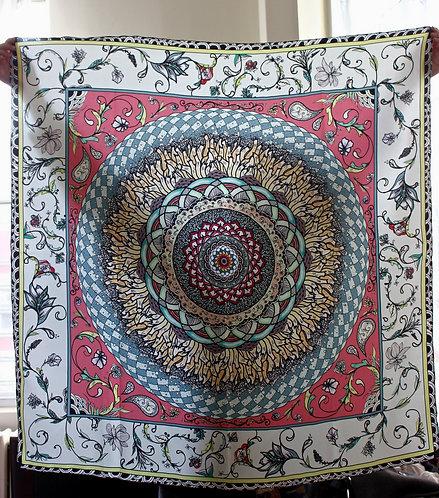 Sacred Floral Silk Twill Scarf