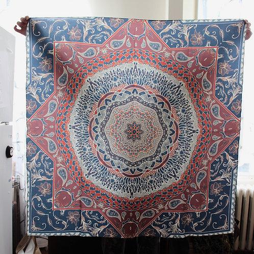 Sacred Floral II Silk Twill Scarf