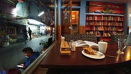 Book store and a café