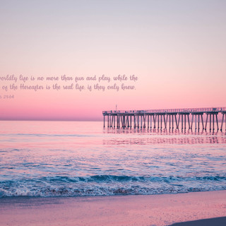 This worldly life is no more than fun and play, while the Abode of the Hereafter is the real life, if they only knew. ~ Quran 29:64