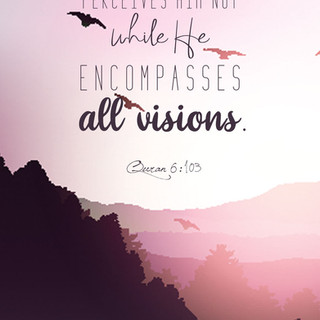 The vision perceives Him not while He encompasses all visions. ~ Quran 6:103
