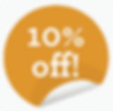10% off 3 or more in one house!