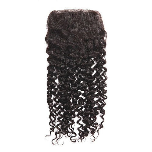 4x4 DEEP CURLY FREE PART LACE CLOSURE