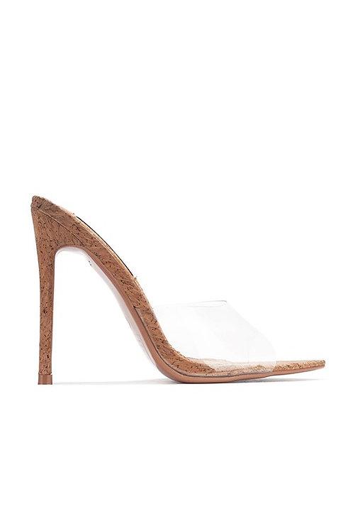 Melrose Cork Heel Sandals