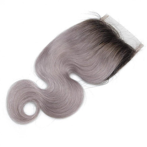 VMONROE 4x4 TB/GREY BODYWAVE LACE CLOSURE