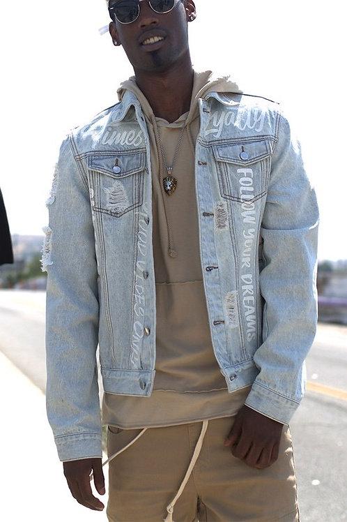 Men's Scribble Denim Jacket