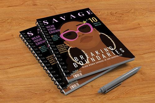 Savage Hardcover Spiral Journal