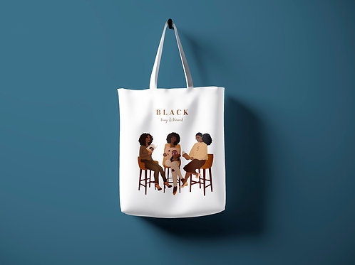 Black, Blessed & Busy Tote Bag