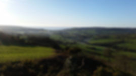 View from Coney's Castle over Wootton Fitzpaine and Charmouth