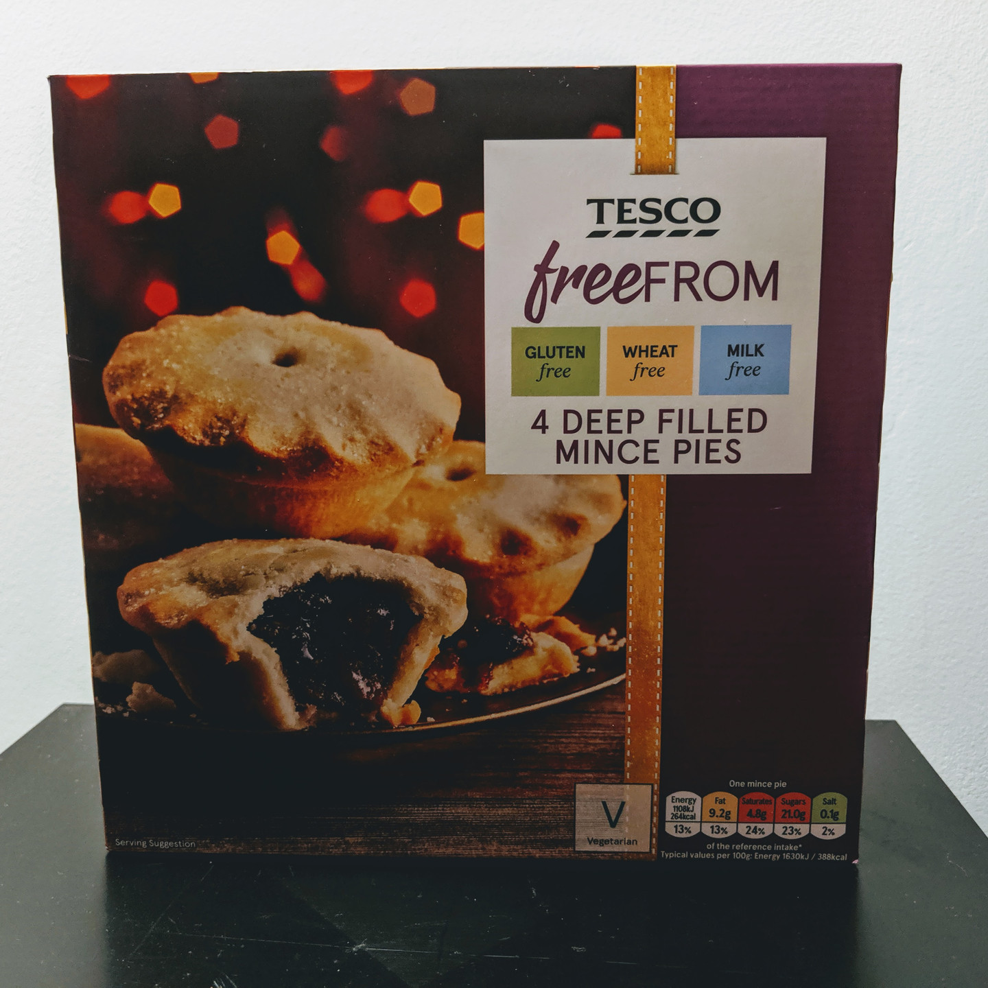 Mince pies front of packaging