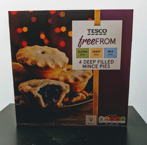 "Free from review - Tesco's ""free FROM"" deep filled mince pies (gluten free/wheat free/milk free)"