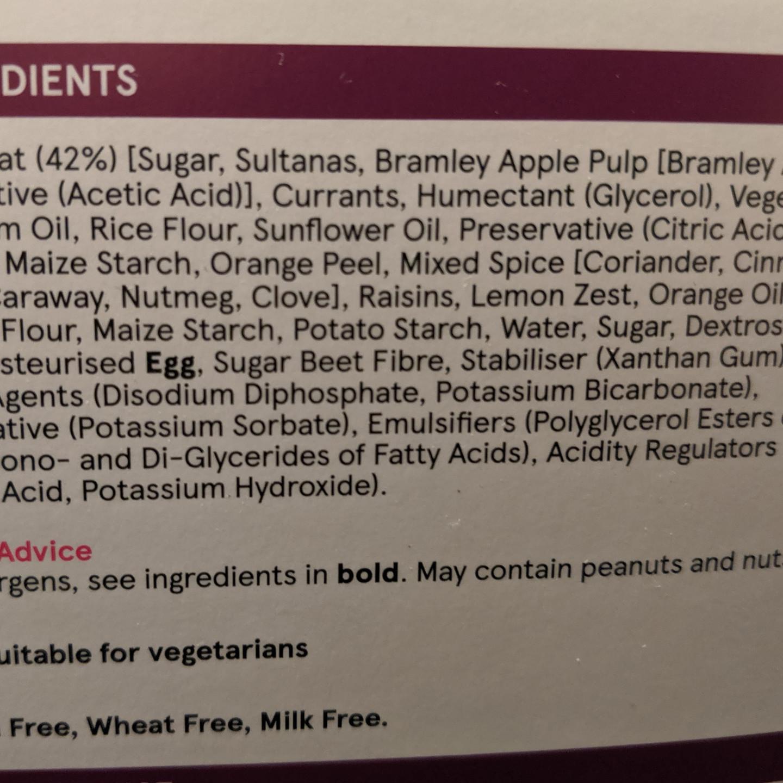 Mince pies ingredients