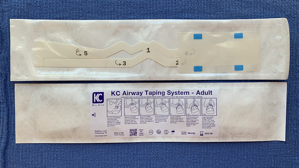 KC Airway Taping System (Front & Back View)