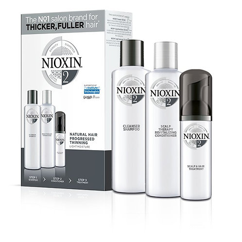 NIOXIN 2, 3-Step Trial Kit ( 300ML, 300ML, 100ML)