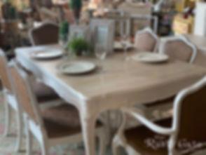beautiful mahogany refinished white tabl