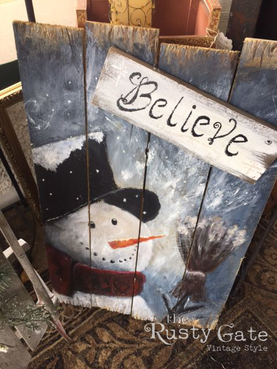 Hand painted Christmas Sign by Susie Myr