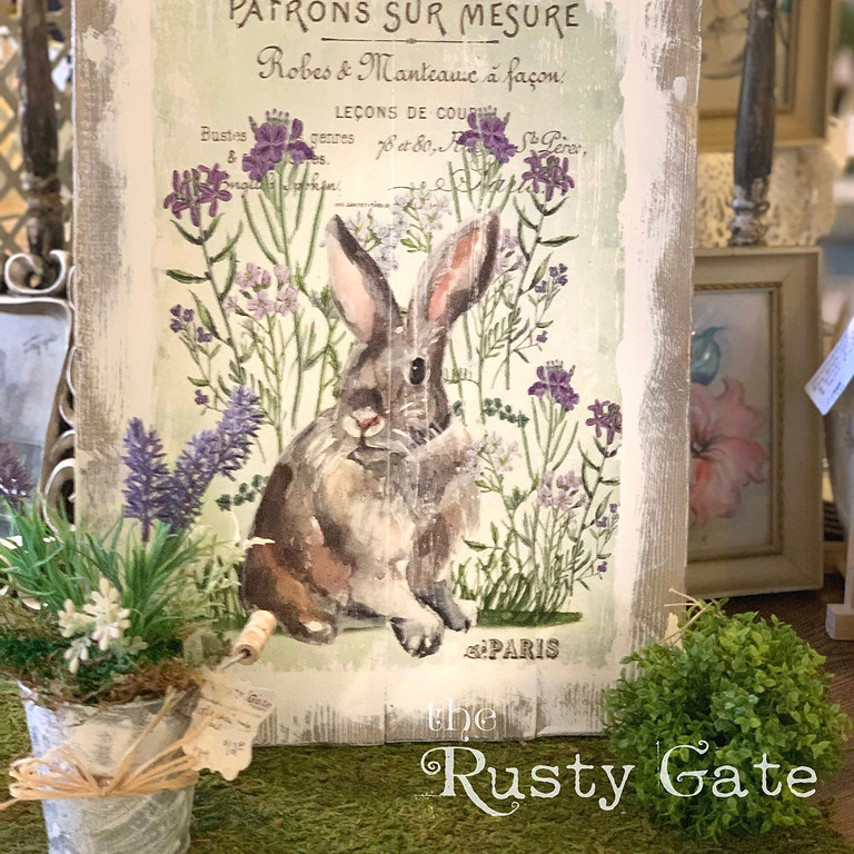 Make a Beautiful Rustic Spring Sign on Wood