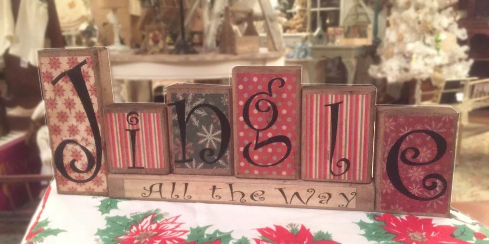 Christmas Block Signs