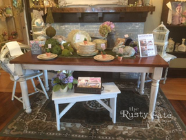 Hand Crafted Farm Table by Susie Myres T