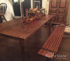 Harvest Table Hand Crafted by Susie Myre