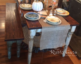 Handmade Rustic Farm Table by Susie Myre