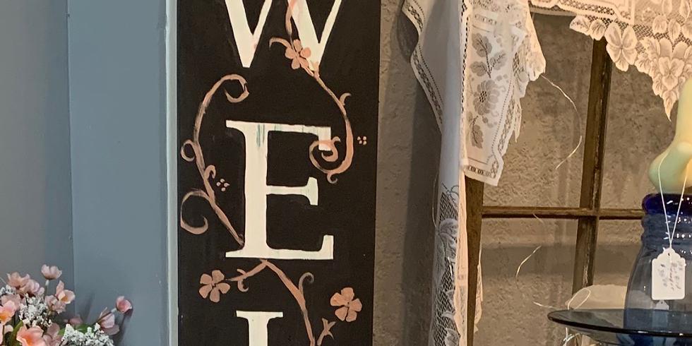 Make a Porch Welcome Sign