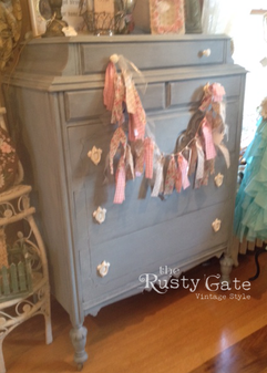 French Blue Chalk Painted Dresser by Sus