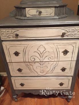 Metallic painted dresser by Susie Myres