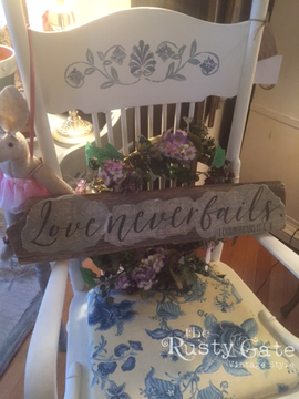 Cottage Style Chair and Custom Signs by