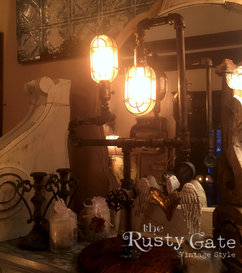 Industrial steampink pipe lamps by Susie