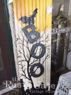 Halloween Porch Ideas Handpainted Sign b
