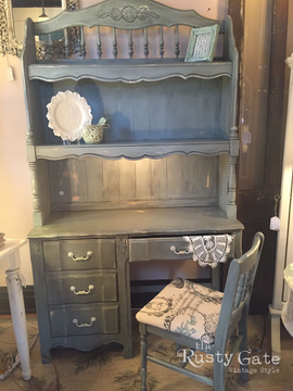 Chalk Painted French Provincial Desk by