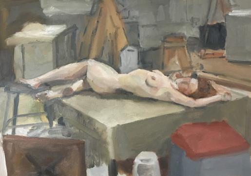 Nude on Platform