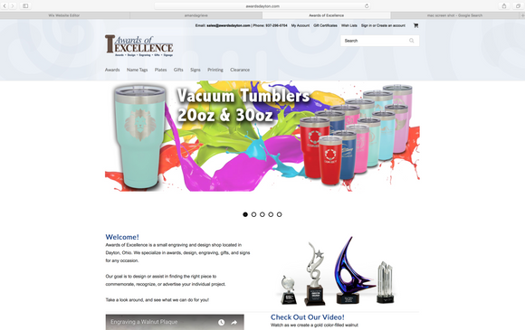 Awards of Excellence Website