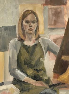 Self Portrait in Venetian Color Palette