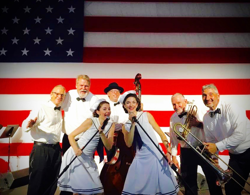 Gracie & Lacy live on the USS Yorktown at Patriots Point with The Legends Band!  Now booking: GracieAndLacy.com