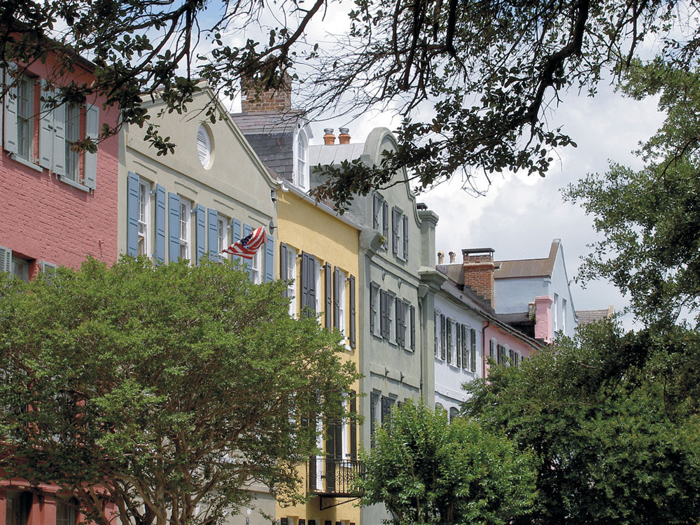Rainbow Row Historic Charleston SC