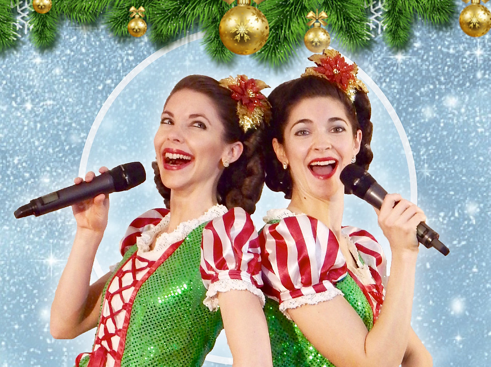 Gracie & Lacy in Candy Cane Dresses