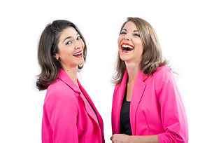 Gracie & Lacy Pink Laughing.jpg