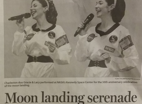 Gracie & Lacy Salute NASA Apollo 11