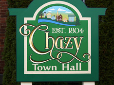 Chazy Town Hall Sign
