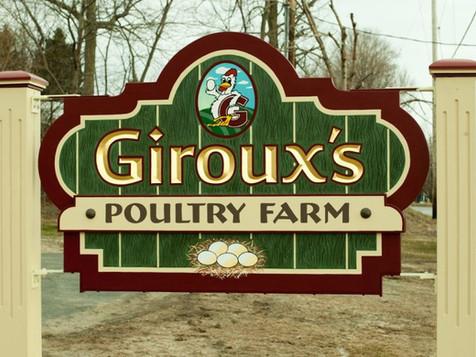 Giroux's Poultry Farm Sign