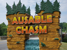 AuSable Chasm Sign