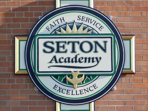 Seton Academy School Sign
