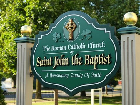 Saint John the Baptist Church Sign