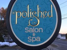 Polished Salon & Spa Sign